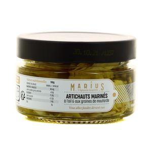 Marius, L'Épicerie Inspirée  Arrtichauts marinés Ail & graines de moutarde