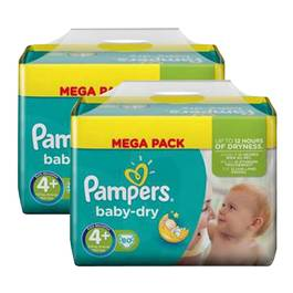 Couches format Mega maxi T4+ 9/20k , Lot de 2 paquets de 80 couches,PAMPERS,lot de 2x
