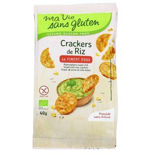 Ma Vie Sans Gluten Crackers riz piment doux bio