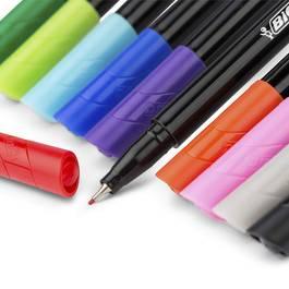 Bic 4 Feutres d'écriture pointe fine couleurs fun Intensity