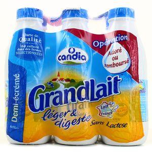 Candia GrandLait sans lactose 1/2 écrémé