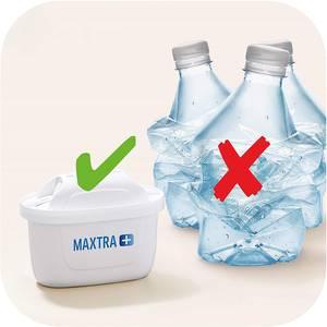 BRITA Carafe filtrante LED Style Bleue + 1 cartouche MAXTRA+