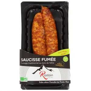 Rostain Saucisse fumée bio à bouillir x2