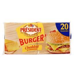 Président Burger Cheddar & Emmental