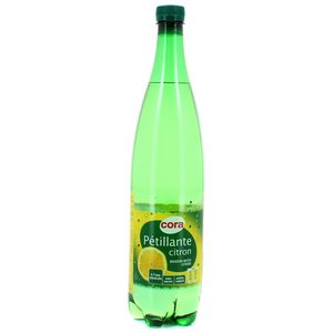 Cora Eau gazeuse aromatisée citron