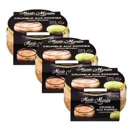 Marie Morin Crumble aux pommes caramélisées