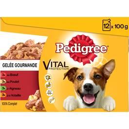 Pedigree Sachets fraîcheur en gelée Vital Protection 4 variétés pour chien