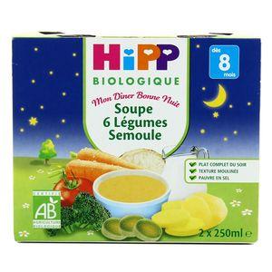 Hipp Soupe 6 Légumes Semoule bio dès 8 mois