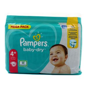 Pampers Babydry Couches T4+ - 10/15 Kg - Mega Pack
