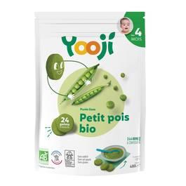 Yooji Purée de Petits pois bio surgelée en portions dès 4 mois
