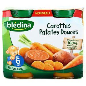 Blédina Carottes patates douces dès 6 mois