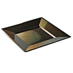 concept design assiettes carre nacres chocolat 24x24cm 12 assiettes. Black Bedroom Furniture Sets. Home Design Ideas