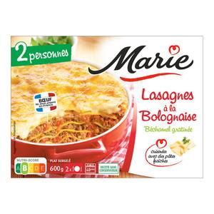 Marie Lasagnes à la Bolognaise- béchamel gratinée cuisinées avec des pâtes fraîches