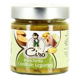 Ciro Bruschetta confit de légumes sans gluten