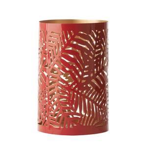 Devineau Photophore tropical métal rouge intérieur or