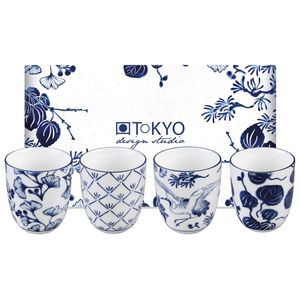 Tokyo Design Studio Coffret 4 tasses Flora japonica 16728