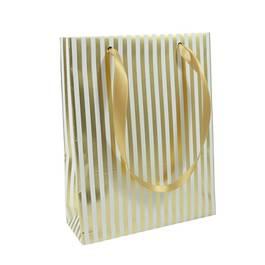 Clairefontaine Sac cadeau format moyen rayures premium