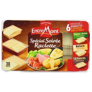 Entremont Assortiment de fromage à raclette, nature, antan, 3 poivres