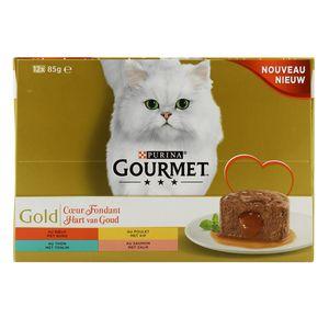 Gourmet Gold Coeur fondant Au Boeuf / Au Thon / Au Poulet / Au Saumon