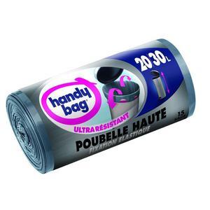 Handy Bag Sacs poubelle 20-30L à élastique pour poubelle haute