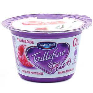 Spécialité au lait saveur framboise avec sucre et édulcolorant TAILLEFINE, 145g