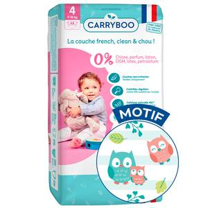 Carryboo Couches Ecologiques T4 -7/18kg - Non-irritantes Jumbo