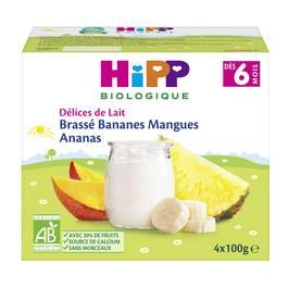 Hipp Délices de Lait - Brassé Bananes Mangues Ananas bio, dès 6 mois