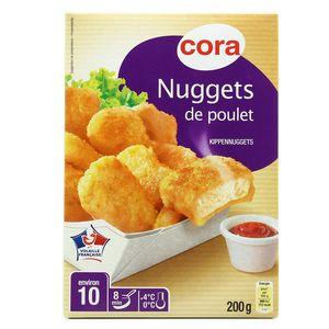 Nuggets de poulet  ,CORA,200 g
