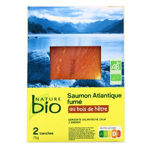 Nature Bio Saumon Fumé d'Elevage, Bio, 70g