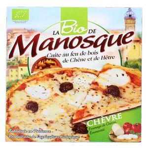 La Pizza De Manosque Pizza Bio Chèvre- Fromage de chèvre, Emmental cuite au feu de bois de chêne et de hêtre