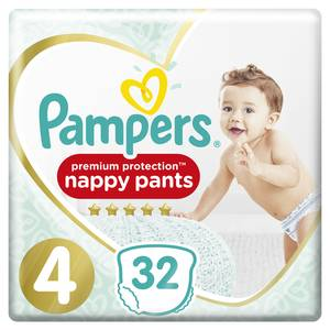 Pampers Premium protection Couches culottes T4 - 9/15kg - Active Fit nappy pants