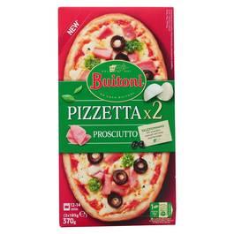Buitoni Pizzetta 2 Mini Pizzas Prosciutto - Pizzetta Mozzarella, Jambon 2x185g