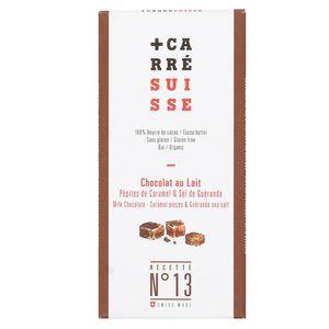 Carré Suisse Chocolat au lait bio 37% Pépites de caramel - N°13