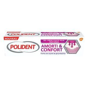 Polident Gel-crème fixatif pour prothèses dentaires amorti & confort