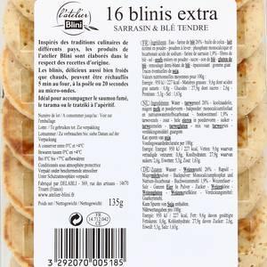 Atelier Blini 16 Blinis Extra - Sarrasin & Blé Tendre