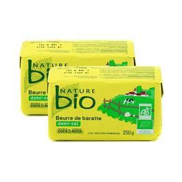 Nature Bio Beurre bio de baratte 1/2 Sel