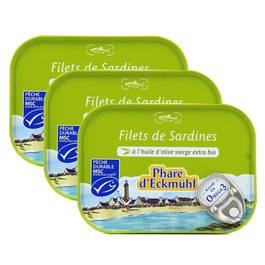 Phare d'Eckmuhl Filet de Sardine à l'Huile d'Olive extra Bio