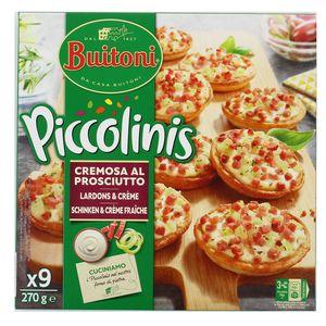 Buitoni Piccolinis 9 Mini pizzas Cremosa al Prosciutto- Lardons et crème Flammekueche 9x30g