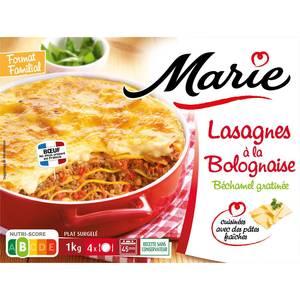 Marie Lasagnes à la bolognaise, béchamel gratinée cuisinées avec des pâtes fraiches