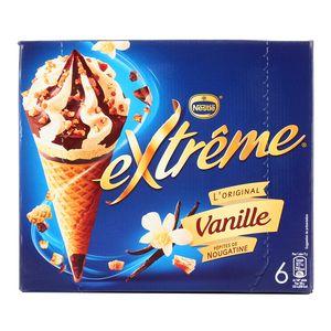 Extrême 6 cônes glacés vanille et pépites de nougatine 6x120ml