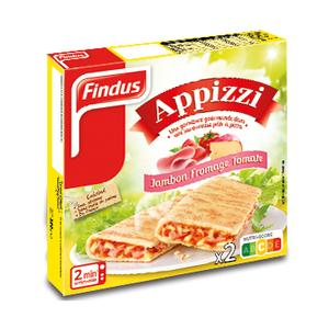 Findus 2 Appizzi jambon, fromage, tomate 2x125g