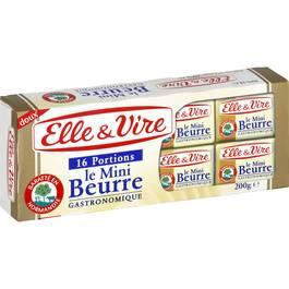 Elle&Vire Mini beurre doux portions 82% Mat.gr