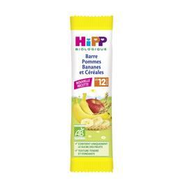 Hipp Barre Pommes Bananes et Céréales bio dès 12 mois