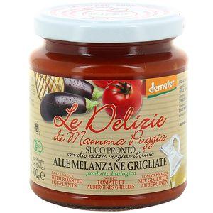 Le Delizie Di Mamma Puggia Sauce Tomate et aubergines grillées, bio Demeter