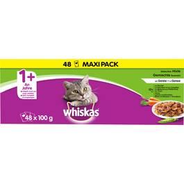 Whiskas Sachets fraîcheur en gelée 4 variétés pour chat stérilisé