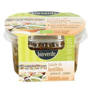 BioVerde Salade bio Lentille Poireau Carotte, végan
