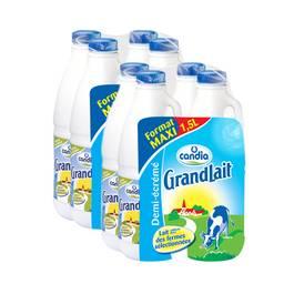 Candia Grand lait 1/2 écrémé UHT