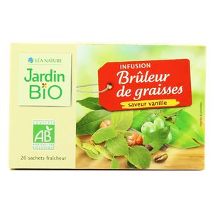 Jardin Bio Infusion Bio Bruleur De Graisses Saveur Vanille 20