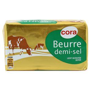 Cora Beurre plaquette 1/2 Sel