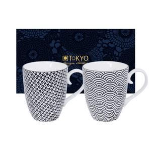 Tokyo Design Studio Coffret 2 Mugs Nippon Black Wave Raindrop